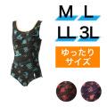 【うきうき屋】ゆったり水着 ワンピース M〜3L 256233