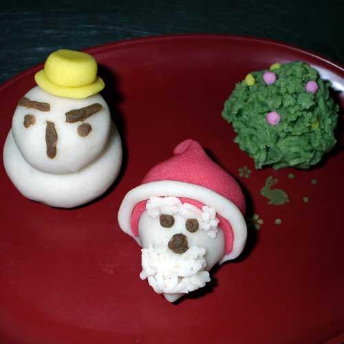 和菓子で作る手作りクリスマスセット