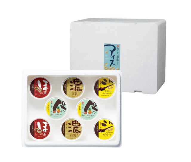 豆乳入りアイス選べる4種8個セット (商品番号:100856)