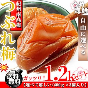 選べてうれしい♪ 梅干し つぶれ梅 1.2kg セット [送料無料]【ギフト】訳あり