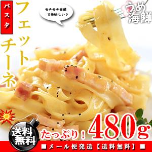 生パスタ フェットチーネ 480g(約4食分)デュラム小麦 100% パスタ 麺【送料無料】※代金引換不可