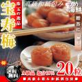 紀州 南高梅 宝寿梅 20粒 個包装(大粒サイズ4L以上 A級品)塩分10% 梅干し 【ギフト】 送料無料