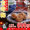 高級紀州杉木樽入り♪ 紀州 南高梅 宝寿梅 600g(大粒サイズ3L以上 A級品)梅干し  ギフト 送料無料