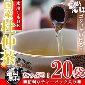 ゴクゴク飲める♪国産 杜仲茶 ティーバッグ 1袋 20袋入り 水出し もできます【送料無料】【とちゅう茶】【健康茶】※代金引換不可