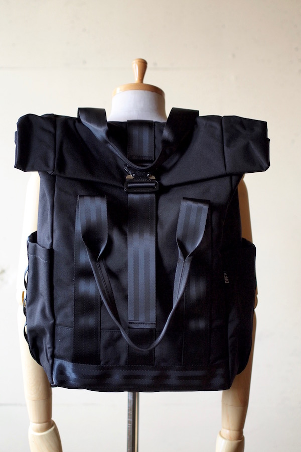 DEFY BAGS VerBockel Rolltop Pack, Black Cordura-1