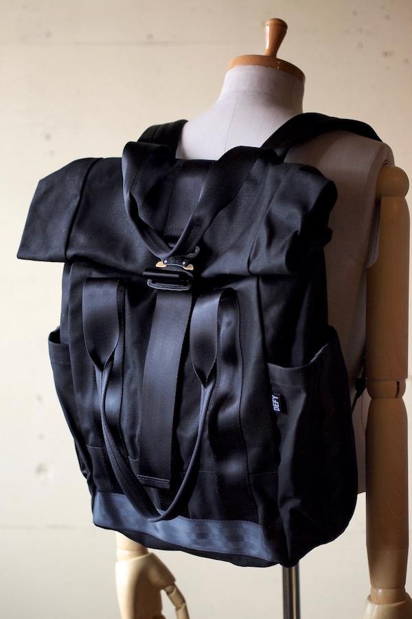 DEFY BAGS, VerBockel Rolltop Pack Wax Canvas Black-1