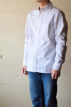 Workers widespread collar shirt tattersall for Wide spread collar shirt