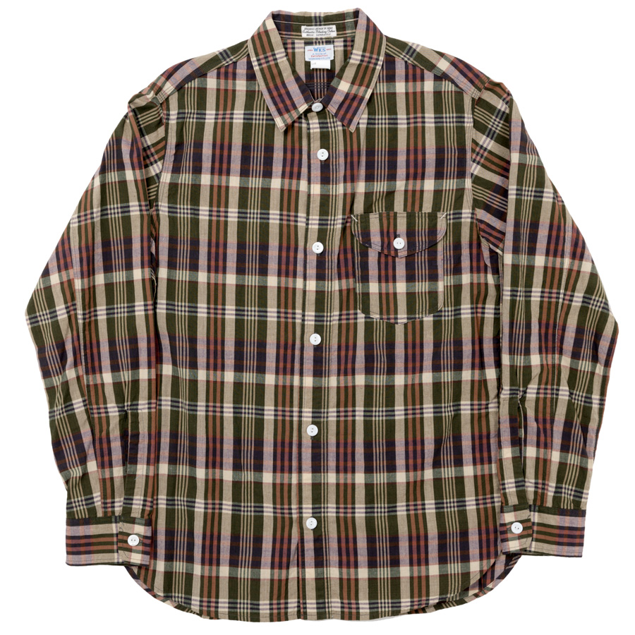 Lt. Work Shirt Green Madras