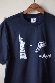GMT (General Mean T-Shirts) PIZZA NY Navy-1