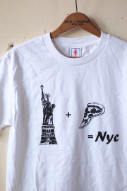 GMT (General Mean T-Shirts) PIZZA NY White-1