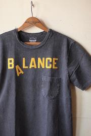 Mixta (ミクスタ) Printed Pocket Tee Balance V.Black-1