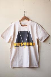 Mixta (ミクスタ) Printed Tee Western Ave Natural-1