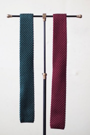 WORKERS Silk Knit Tie Green, Burgundy-1