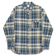 Work Shirt Green Madras