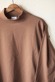 WORKERS AB Plain Mock Neck L/S Tee Coyote-1