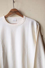 WORKERS AB Plain Crew Neck L/S Tee White-1