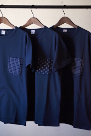 WORKERS Bandana T-Shirt Navy-1