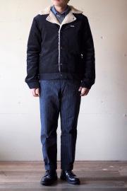 WORKERS Boa Jacket Corduroy Black-1