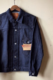 WORKERS Denim JKT Type-1 Black Stitch-1