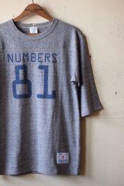 WORKERS Football Tee Numbers 81, Grey-1