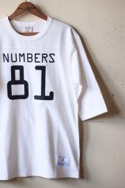 WORKERS Football Tee Numbers 81, White-1