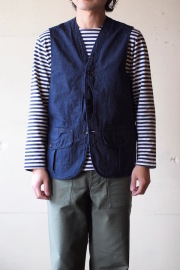 WORKERS Hunting Vest 8oz Denim-1