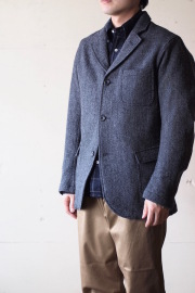 WORKERS Lounge JKT Wool Herringbone Tweed-1