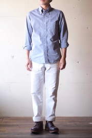 WORKERS Lt. BD Shirt GIZA Broadcloth Blue-1