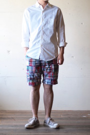 WORKERS Maine Shorts Patchwork Madras-1