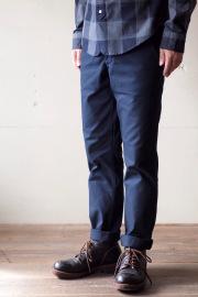 WORKERS MIL Trousers Slim Fit Heavy Serge Navy-1