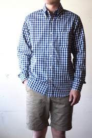 WORKERS Modified BD Light Chambray Blue Gingham-1