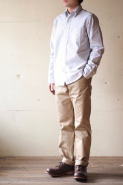 WORKERS Modified BD Shirt Supima Cotton Stripe OX-1
