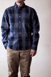 WORKERS Narrow Collar Shirt Block Check-1