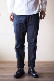 Workers Officer Trousers Slim Denim Stripe-1