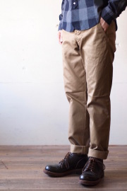 Workers Officer Trousers, USMC Chino Khaki-1