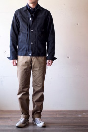 WORKERS Pique Jacket Type1 Black-1