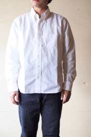 WORKERS Relaxed Fit BD Shirt, White OX-1