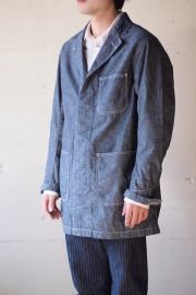 WORKERS Shop Coat 8oz Indigo Chambray-1