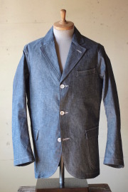 WORKERS Sport Coat 8oz Indigo Chambray-1