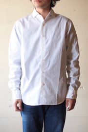 WORKERS Widespread Collar Shirt GIZA Cotton Broadcloth White-1