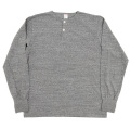 6oz L/S Tee Henry Neck, Grey