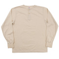 6oz L/S Tee Henry Neck, White