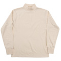 6oz L/S Tee Mock Neck, White