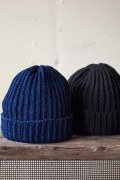 Alderney Cotton Indigo Knit Cap-2