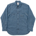 Cigaret Pocket Shirt-Blue Chambray