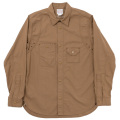 Cigaret Pocket Shirt-Brown Chambray
