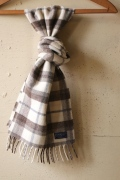 FARIBAULT Hatchet Plaid Scarf, Gray-1