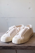 FERN Canvas Sneaker Army Type Low Cut Natural-1