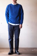 Harley of Scotland Shetland Sweater Crew Neck Ocean Force-1