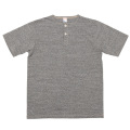 Henley Neck Tee Grey